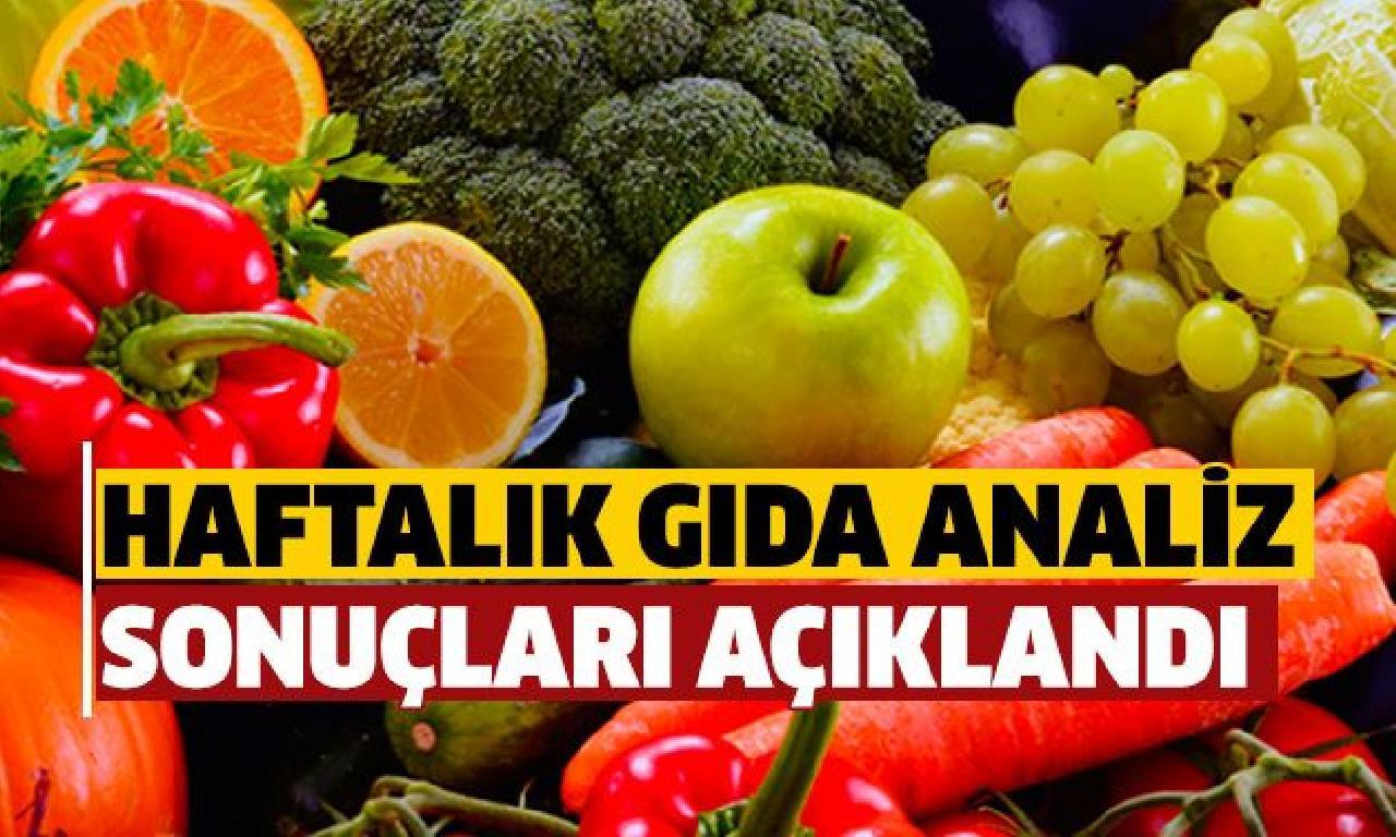 Gıda çözümleme sonuçları açıklandı
