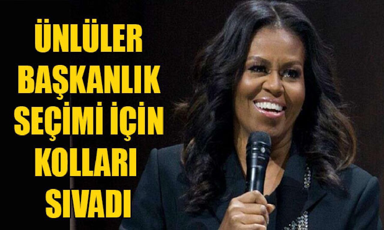 Michelle Obama'nın rey eda derneğine görülmemiş ünlüler katıldı