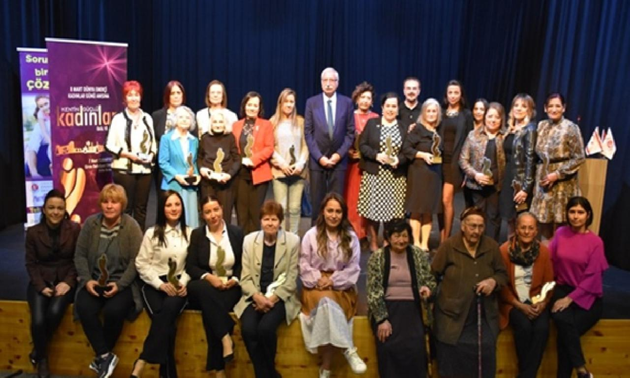 'Girne Belediyesi Kentin Güçlü Kadınları Ödül' töreni yapıldı