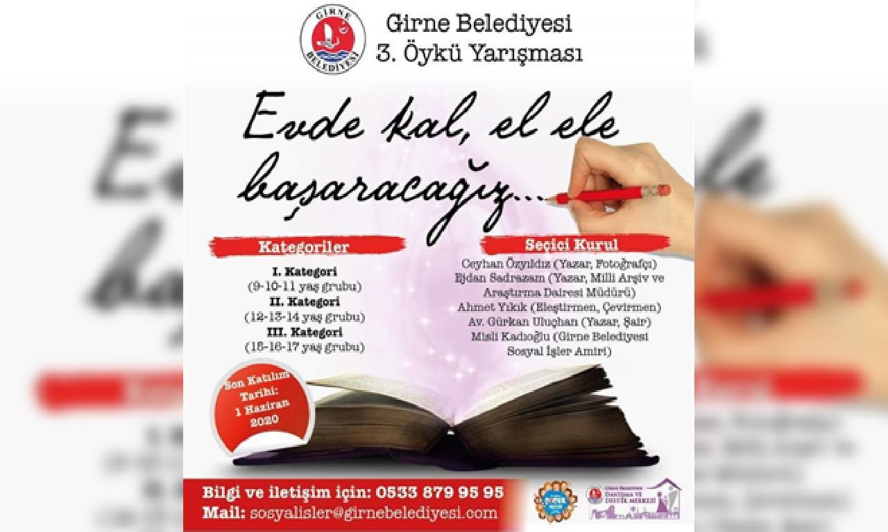 """Girne Belediyesi 3. Öykü Yarışması """"Evde Kal, El Ele Başaracağız"""" Temasıyla Gerçekleştiriliyor"""