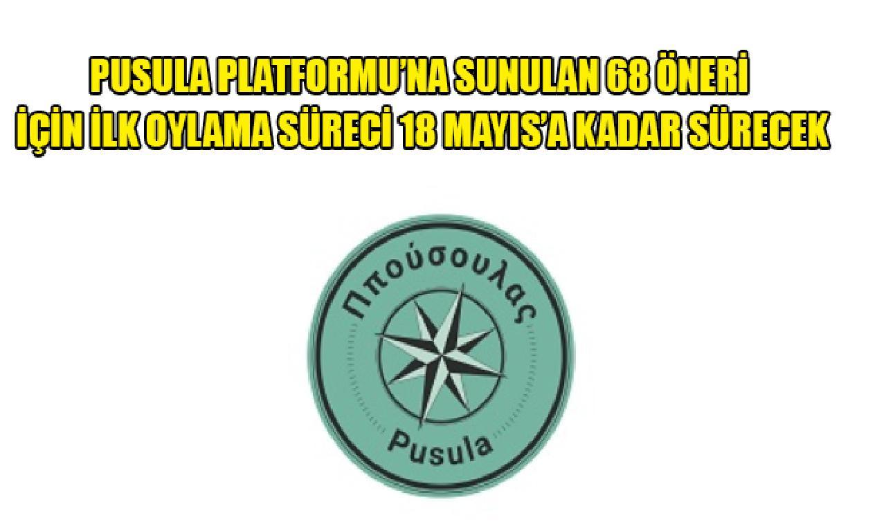 Pusula Platformu'na maruz 68 öneri için altu oylama süreci 18 Mayıs'a büyüklüğünde sürecek