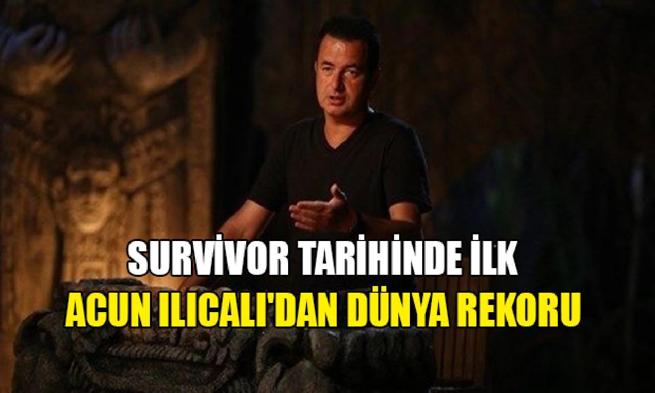 Survivor yarışmacıları dahi Acun Ilıcalı'dan dünya rekoru
