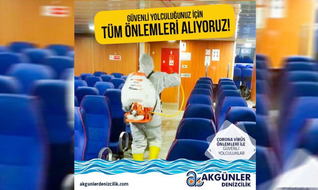 Akgünler Denizcilik güvenli gezi için tüm önlemleri alıyor
