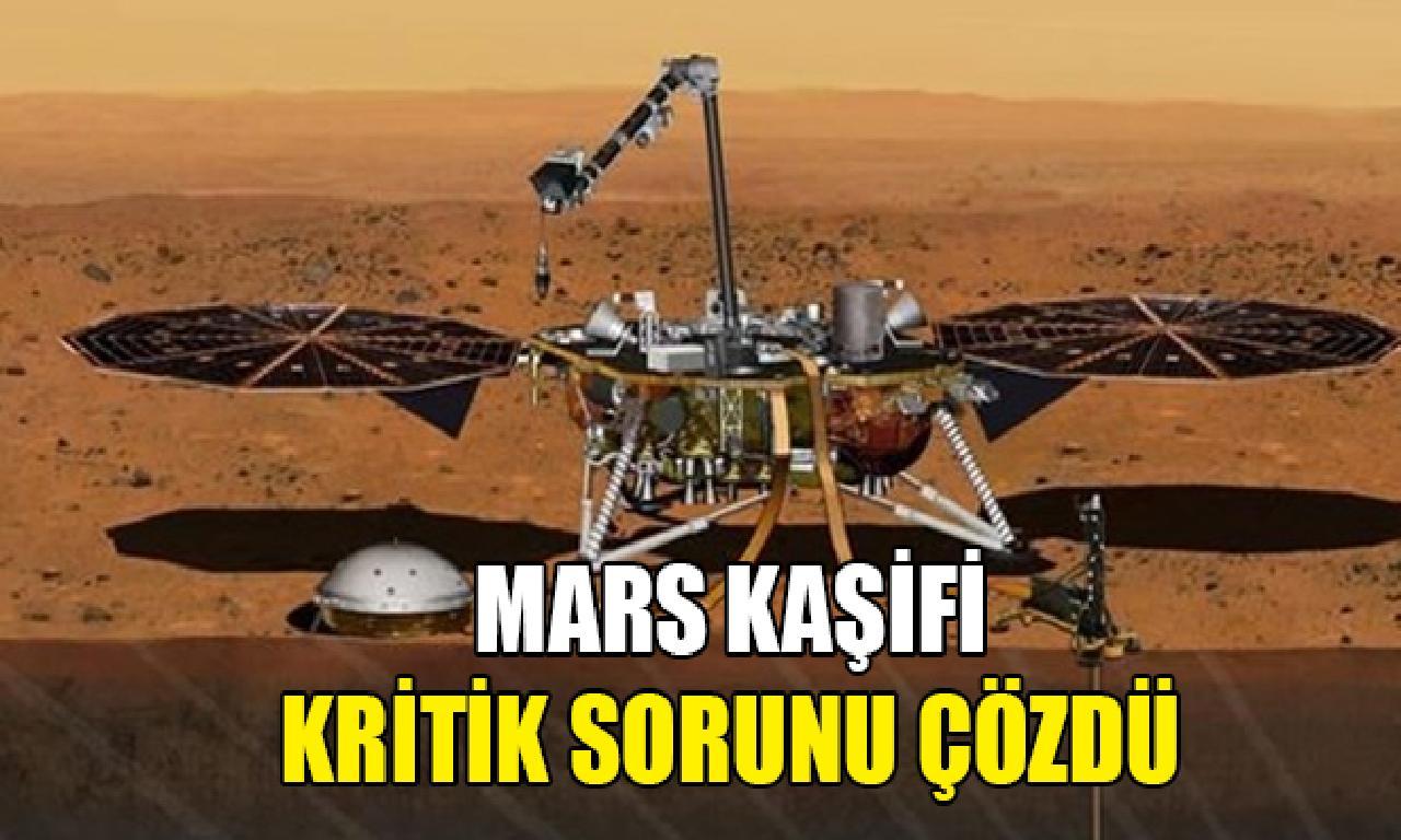 NASA'nın Mars kaşifi tehlikeli sorunu çözdü