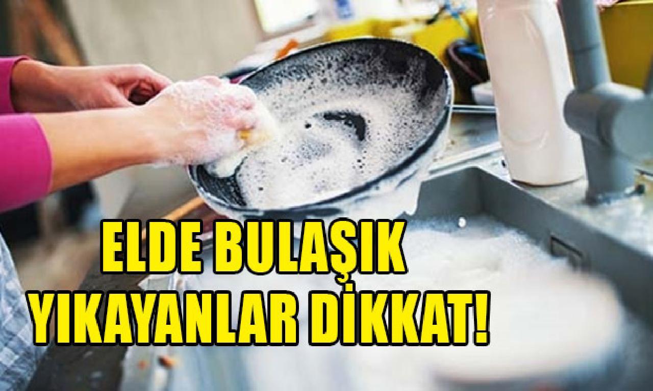 Bulaşıkları evire çevire durulayın uyarısı!