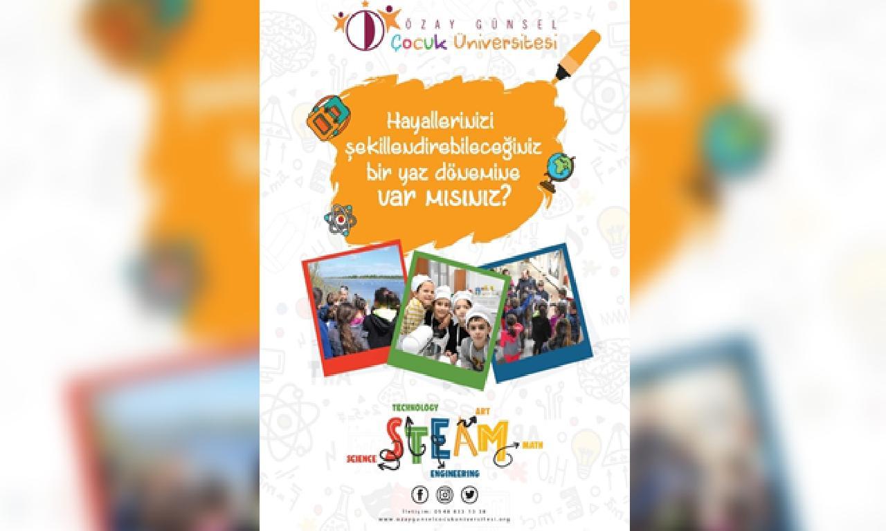 Özay Günsel Çocuk Üniversitesi 2020 Yaz Dönemi Programları 22 Haziran'da Başlıyor