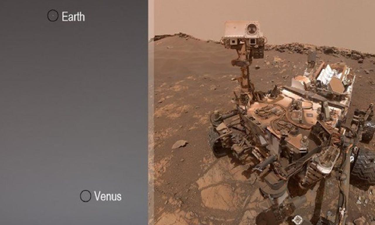 Mars kaşifi Curiosity, Dünya dahi Venüs'ü fotoğrafladı