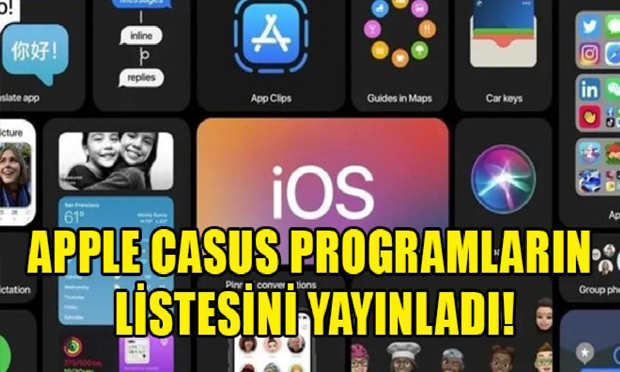 Apple ajan programların listesini yayınladı!