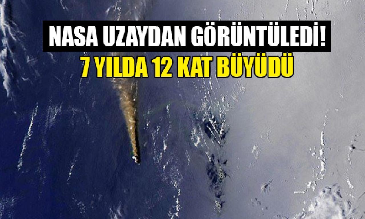 Volkanik cezire 7 yılda 12 kesme büyüdü (NASA uzaydan görüntüledi)