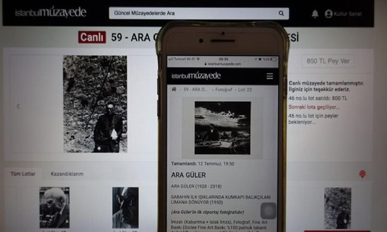 Ara Güler'in altu röportaj fotoğrafı 20 1000 532 liraya satıldı