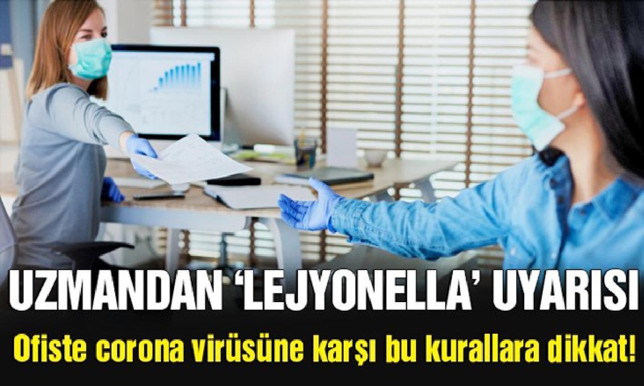 Ofiste corona virüsüne karşı yerde uyarılara dikkat!