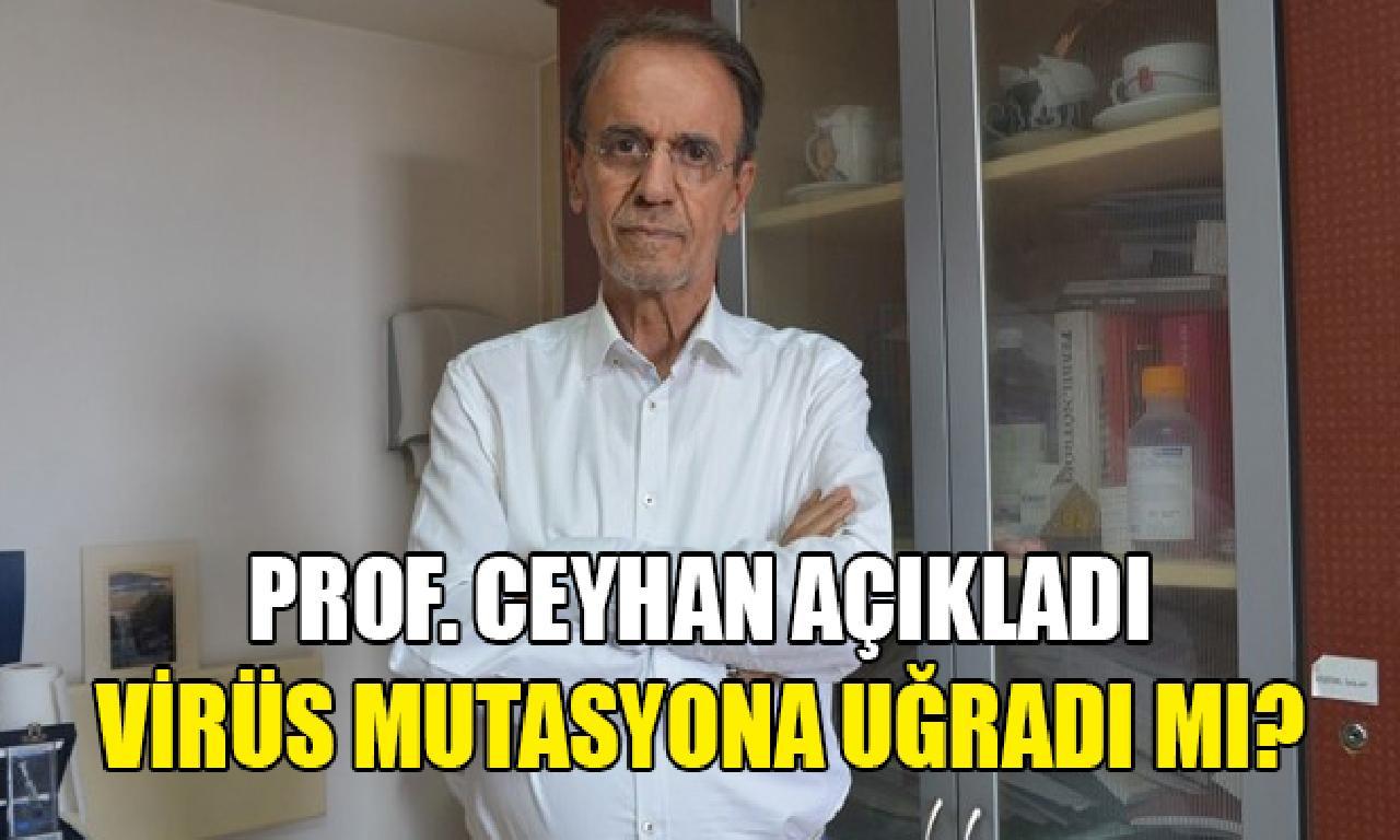 Prof. Dr. Ceyhan: Virüsün davranışını değiştirecek değişinim olmadı