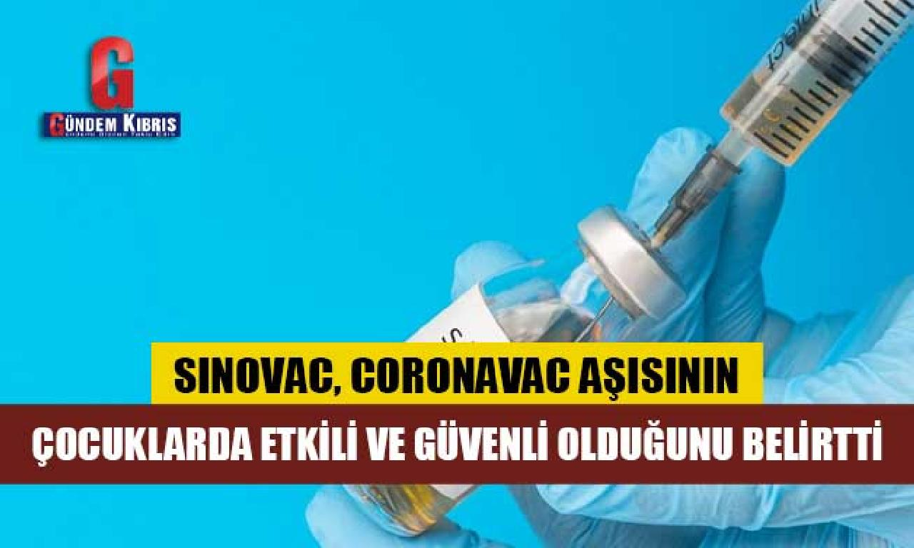 Sinovac, Coronavac aşısının çocuklarda tesirli dahi güvenli olduğunu belirtti