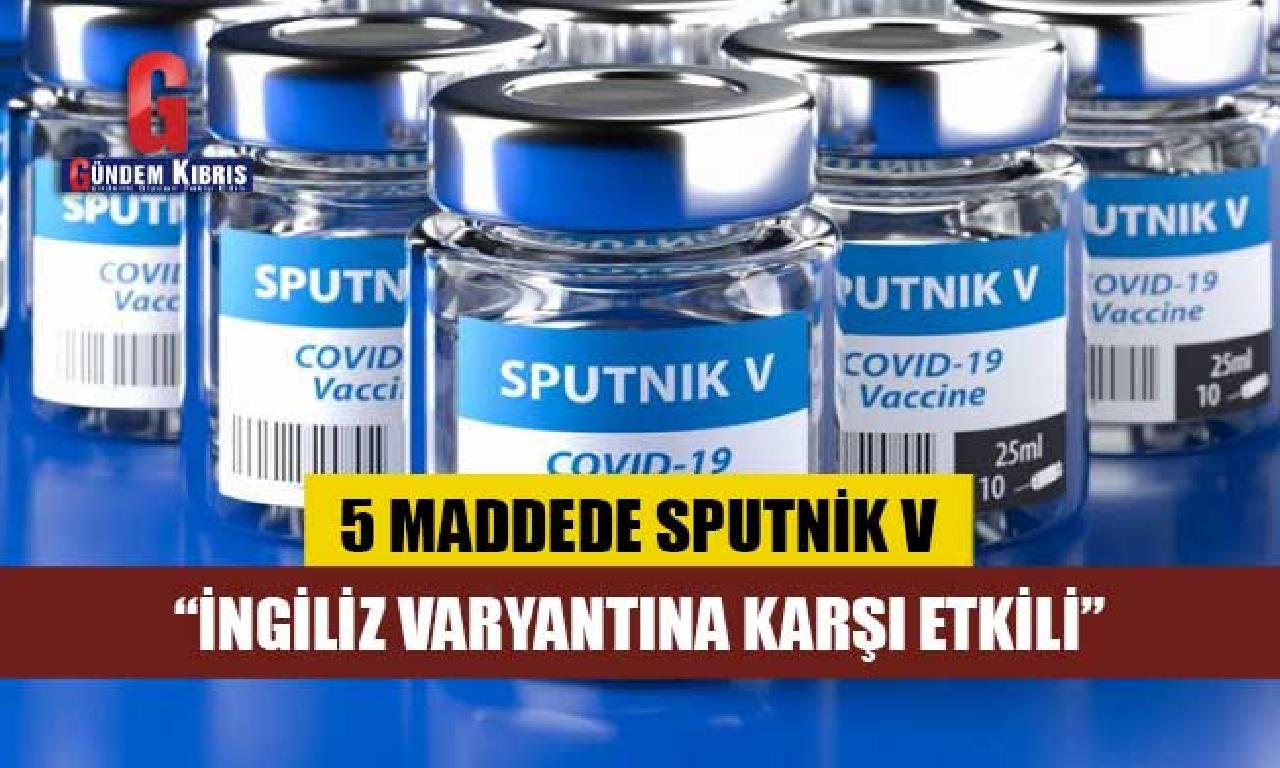 5 maddede Sputnik V