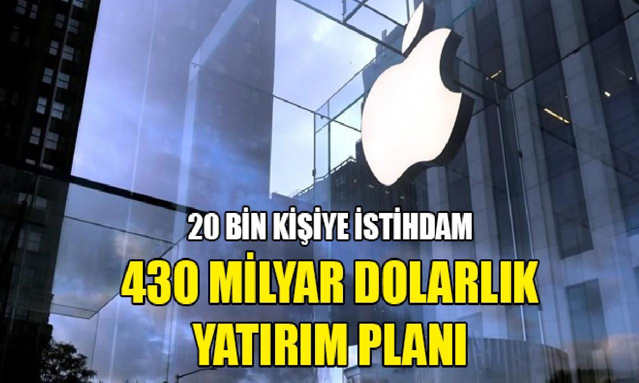 Apple'dan ABD'de 5 yılda 430 1000000000 dolarlık yatırım taahhüdü