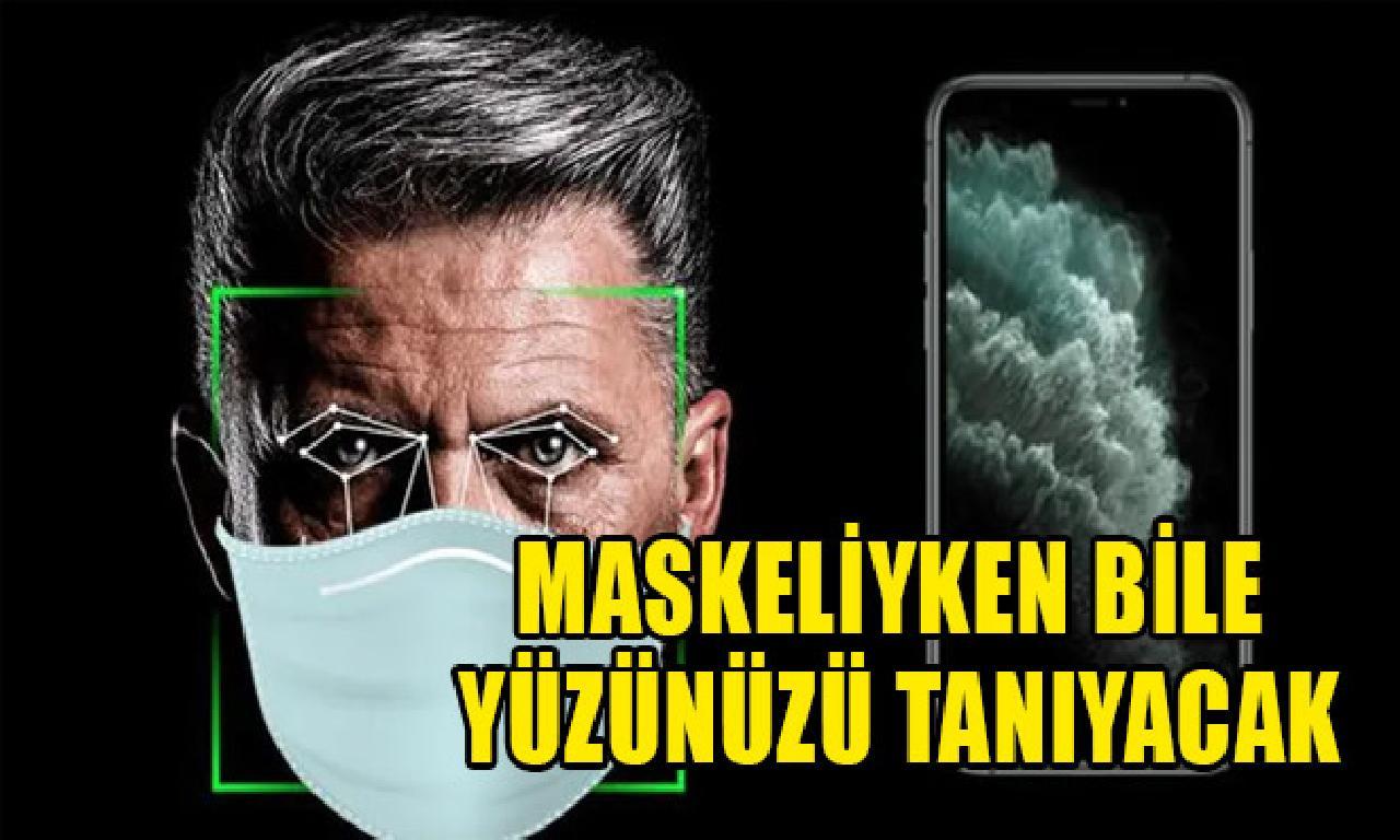 iOS 14.5 ilen maskeliyken dahi Face ID açabilecek