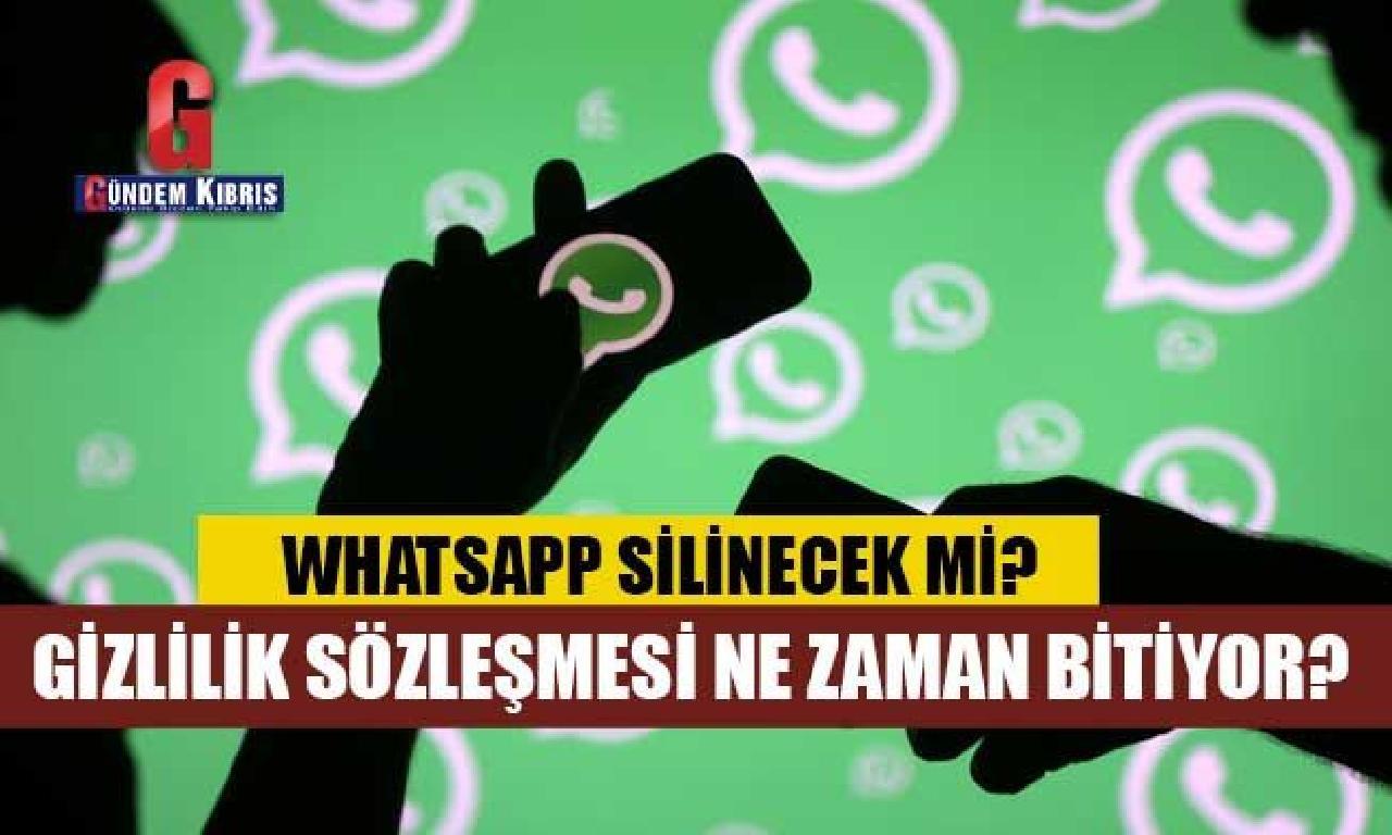 Whatsapp silinecek mi?