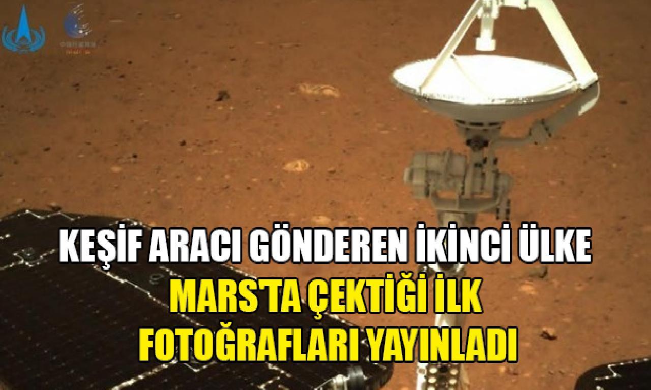Çin, Mars keşif aracının Kızıl Gezegen'de çektiği altu fotoğrafları yayınladı