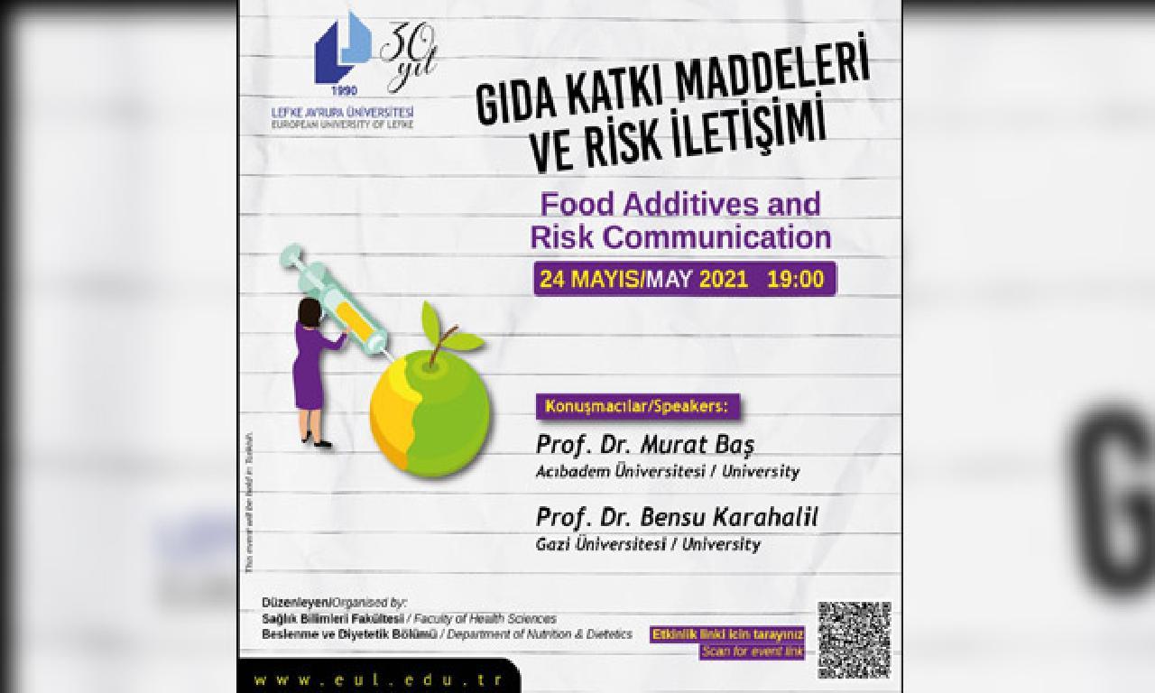 """LAÜ'de """"Gıda Katkı Maddeleri dahi Risk İletişimi"""" mevzulu eğitim düzenlenecek"""
