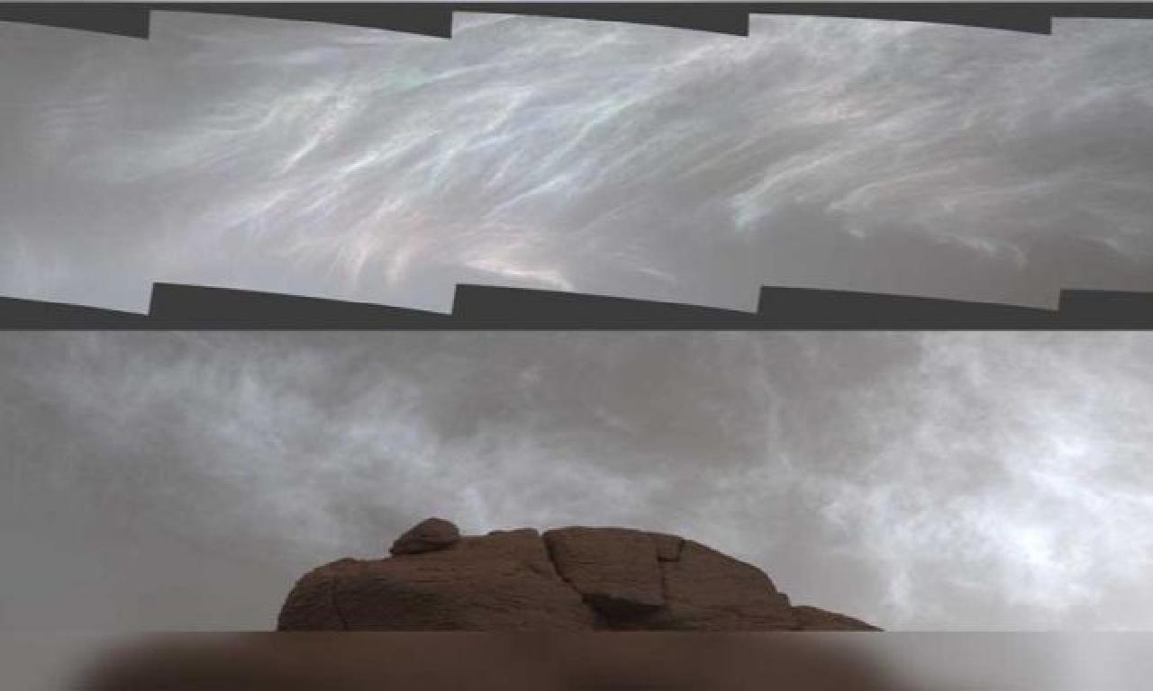 NASA'nın feza aracı, Mars'ın ışıltılı bulutlarını görüntüledi