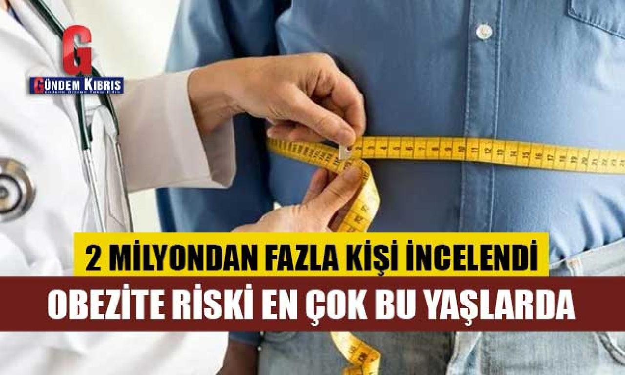 Obezite riski genişlik çok yerde yaşlarda...