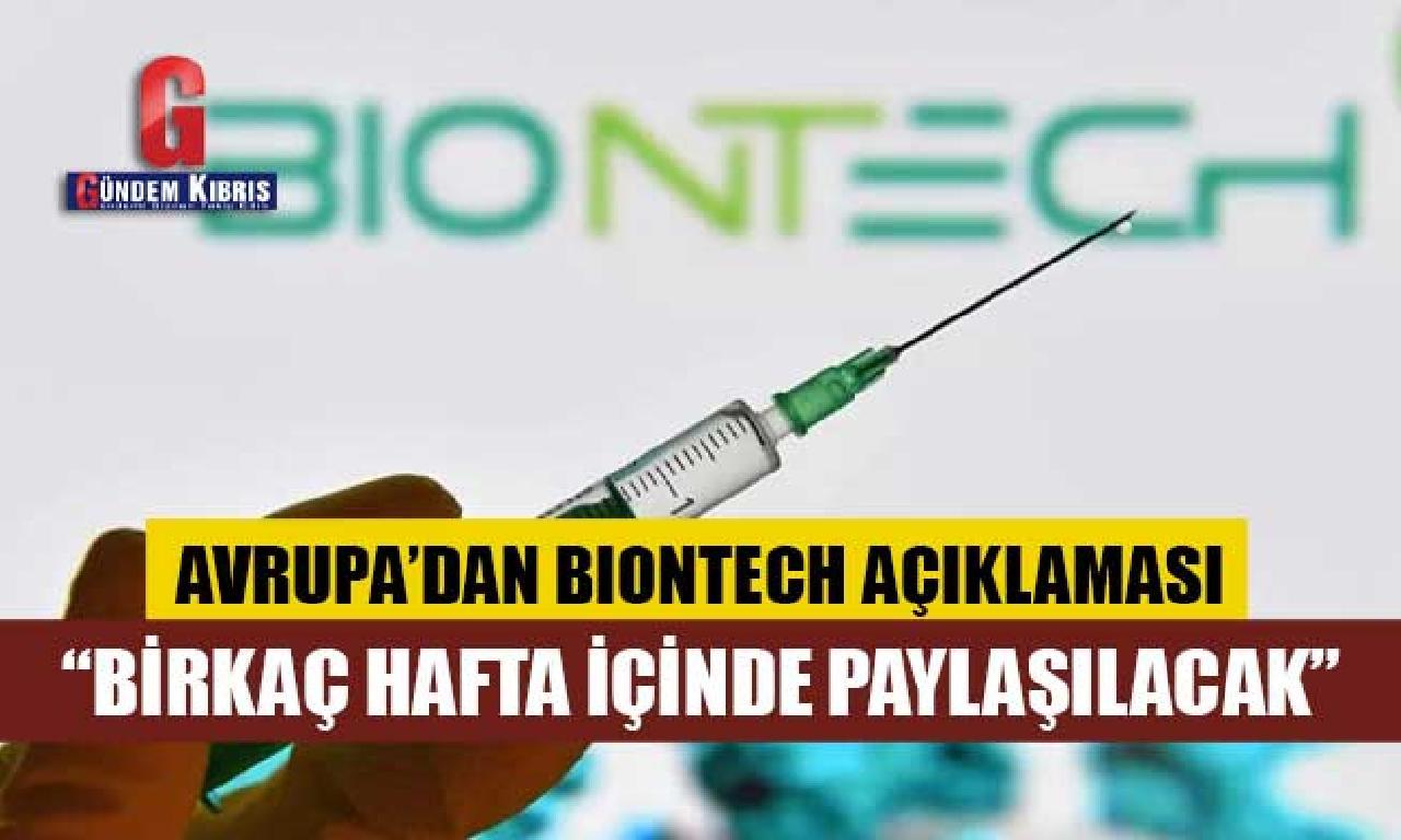 Avrupa İlaç Ajansı'ndan BioNTech aşısı açıklaması
