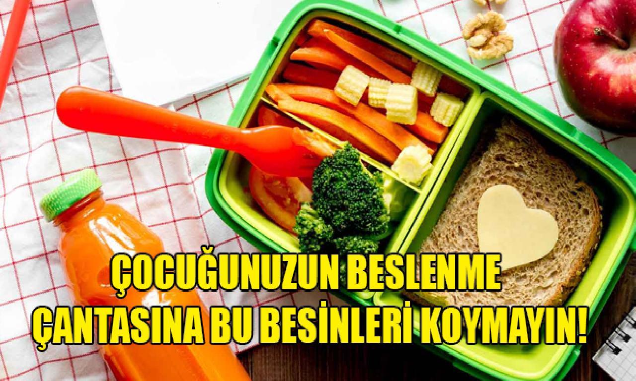 Çocuğunuzun arıcı çantasına yerde besinleri koymayın!