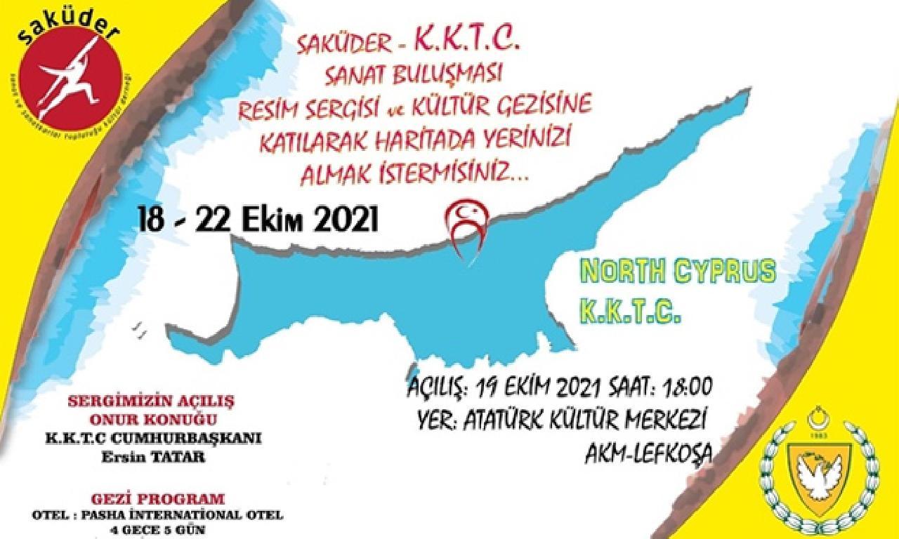 """""""Saküder Kıbrıs Sanat Buluşması"""" Sergi dahi Ödül Töreni Yapılacak"""